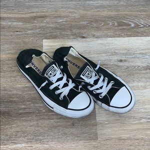 Women's Black Low Top Converse